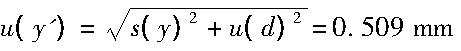液位计引入的标准不确定度